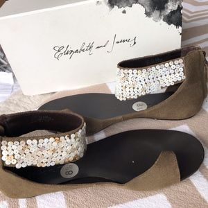 Elizabeth and James Becky Toe Ring Cuff Sandals